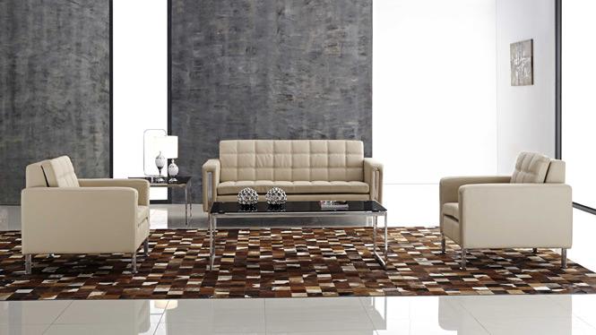 现代真皮沙发 客厅组合皮艺沙发 简约小户型牛皮沙发