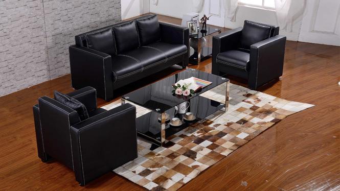 进口中厚牛皮真皮沙发现代转角客厅沙发时尚简约沙发