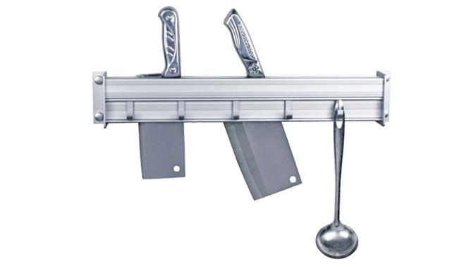 厨房置物架太空铝挂件挂架刀架升级加强版加粗毛巾秆 BM032