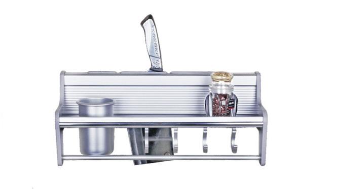 厨房置物架太空铝挂件升级加强版加粗毛巾秆加大橡木 BM001C