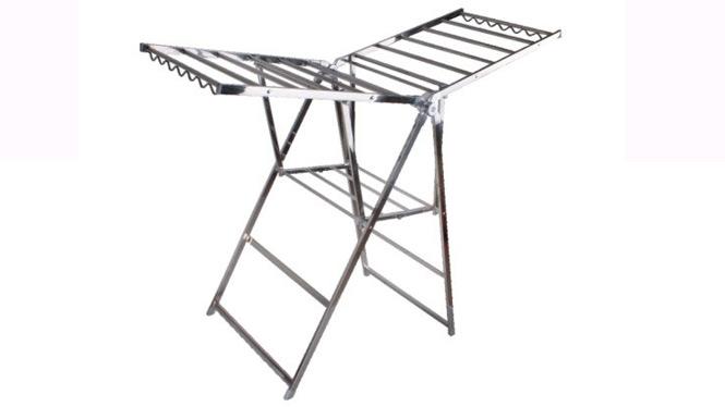 太空铝翼型晾衣架 落地折叠 阳台晒衣架 加厚晒被架 挂衣架 YJ005