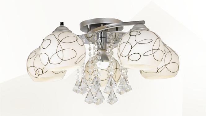 水晶客厅灯LED吸顶卧室灯时尚简约餐厅灯具  88003
