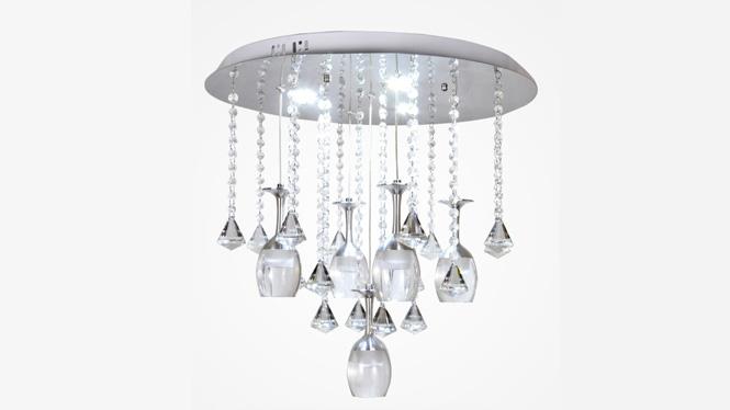 水晶客厅灯LED吸顶灯现代简约浪漫温馨亚克力餐厅创意酒杯灯88005