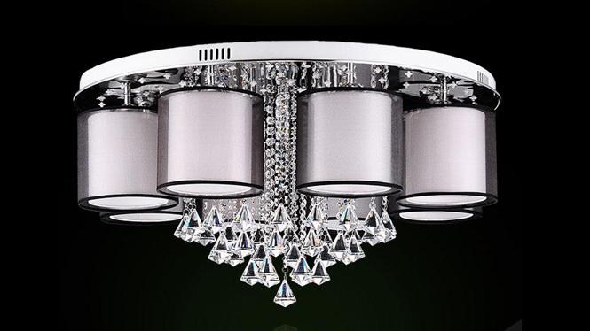 现代大气水晶客厅灯LED调光吸顶卧室灯 88020