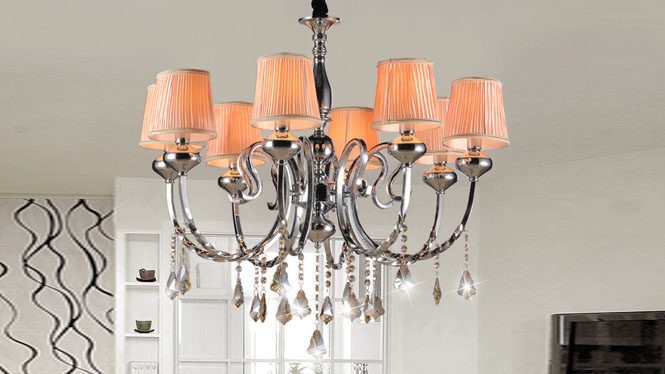 简约后现代欧式水晶吊灯客厅灯 89001