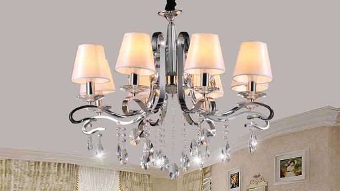 时尚简约后现代欧式水晶吊灯客厅卧室灯 89002