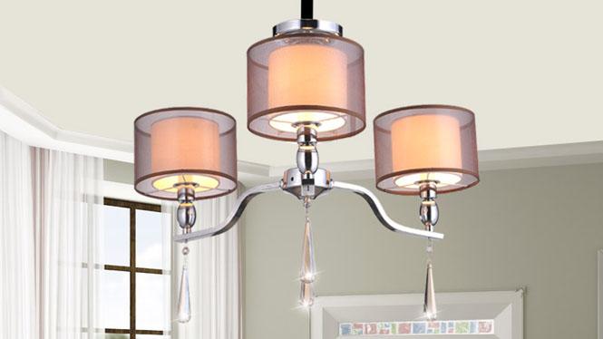简约后现代欧式水晶吊灯客厅灯 89003