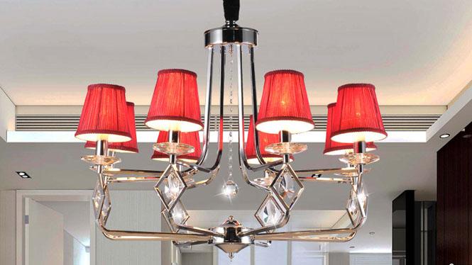 时尚简约后现代欧式水晶吊灯客厅灯   89005