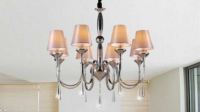 时尚简约后现代欧式水晶吊灯客厅灯  89006