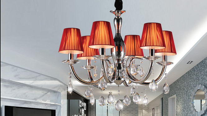 简约后现代欧式水晶吊灯客厅灯 89007