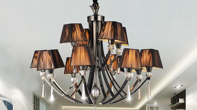 简约后现代欧式水晶吊灯客厅灯 89009