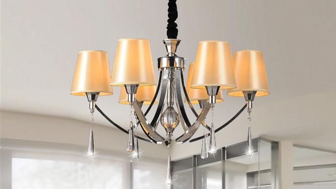 简约后现代欧式水晶吊灯客厅灯 89010