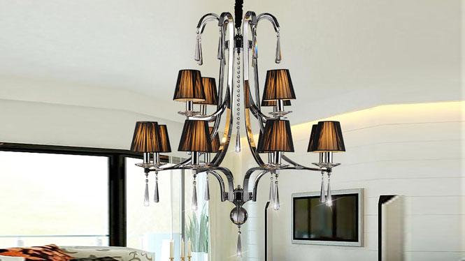 时尚简约后现代欧式水晶吊灯客厅灯   89011