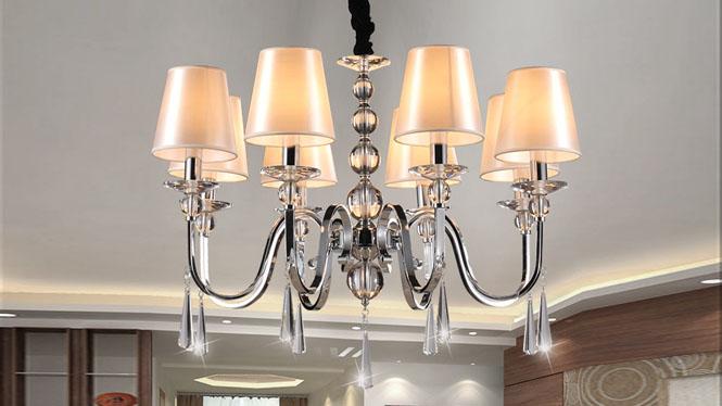 简约后现代欧式水晶吊灯客厅灯  89012