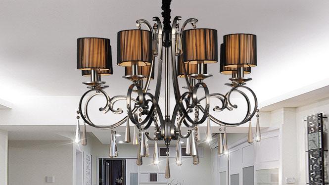 简约后现代欧式水晶吊灯客厅灯 89015