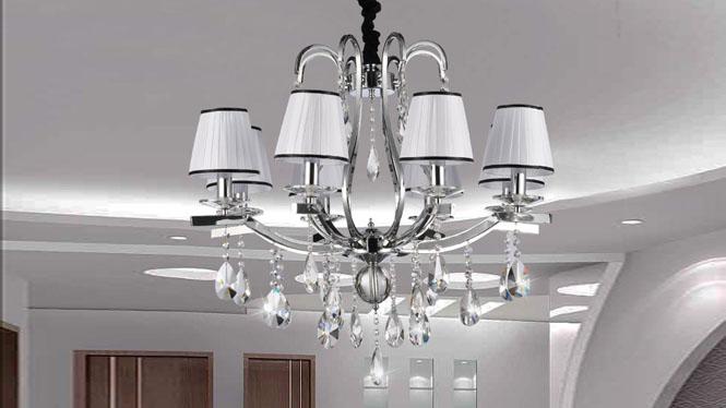 时尚简约后现代欧式水晶吊灯客厅卧室灯 89016