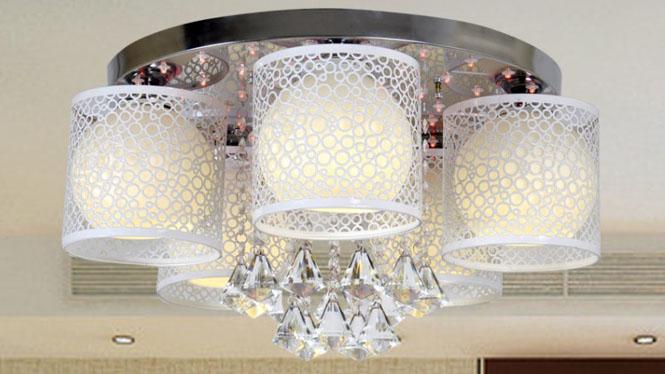 水晶客厅灯LED吸顶卧室灯时尚简约餐厅灯具 88001