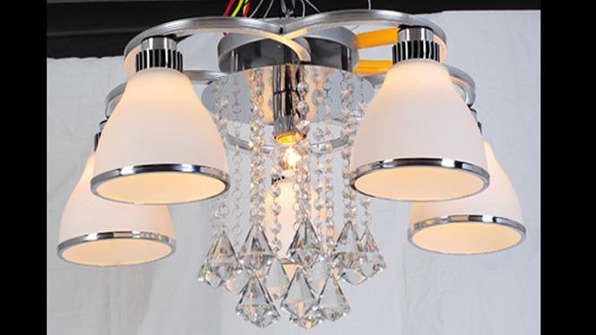 水晶客厅灯LED吸顶卧室灯时尚简约餐厅灯具 88002