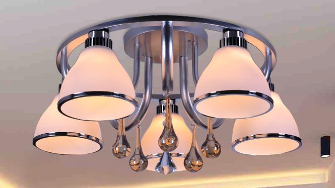 水晶客厅灯LED吸顶卧室灯时尚简约餐厅灯具 88006