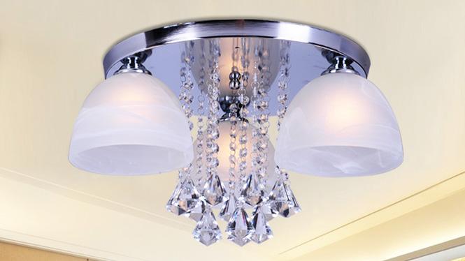 水晶客厅灯LED吸顶房间卧室灯时尚简约温馨浪漫饭厅餐厅灯88008