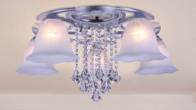 水晶客厅灯LED吸顶房间卧室灯时尚简约温馨浪漫饭厅餐厅灯 88009