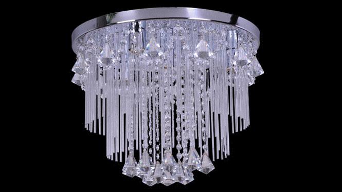 水晶客厅灯LED吸顶房间卧室灯时尚简约餐厅灯 88011