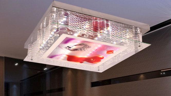 LED调光调色现代简约方形客厅会议卧室灯LED吸顶低压灯88012