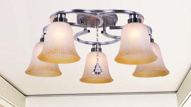 水晶客厅灯LED吸顶房间卧室灯时尚简约温馨浪漫饭厅餐厅灯 88018