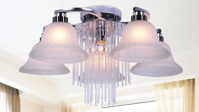 水晶客厅灯LED吸顶房间卧室灯时尚简约餐厅灯 88019
