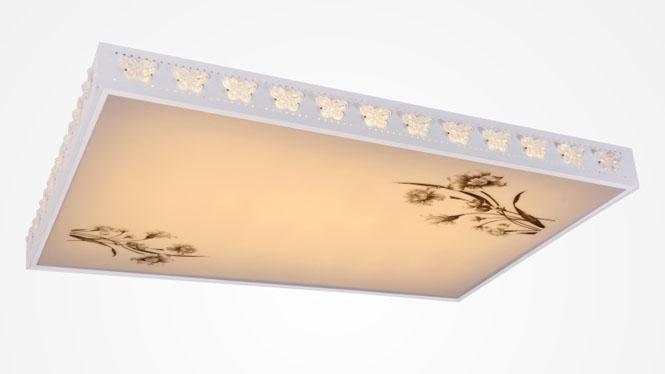 新款现代简约长方形LED调光调色吸顶灯客厅书房餐厅卧室灯 84001