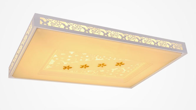 现代简约长方形LED调光调色吸顶灯客厅卧室灯 84002