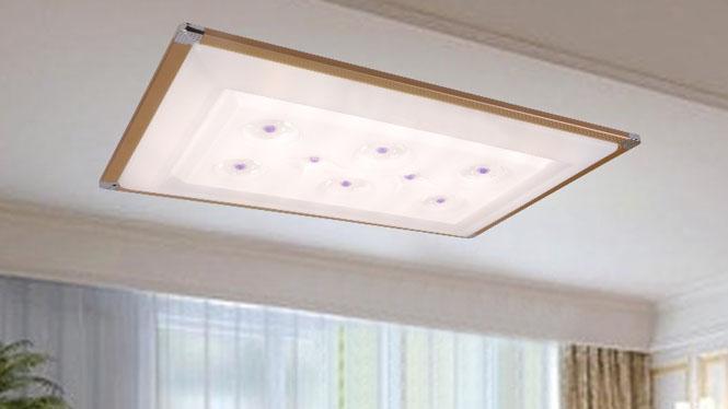 新款现代简约长方形LED调光调色吸顶灯客厅书房餐厅卧室灯 84004