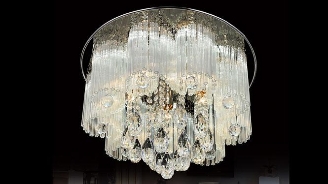 led水晶灯吸顶灯奢华水晶灯现代客厅灯卧室灯具灯饰 8004圆