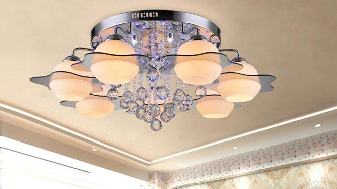 现代简约客厅水晶灯LED水晶客厅灯卧室餐厅灯具灯饰吸顶灯 9201