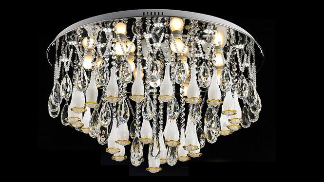 水晶吸顶灯 水晶灯欧式客厅卧室餐厅吸顶灯饰灯具大气 60053