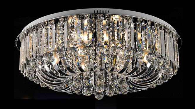 LED水晶吸顶灯客厅灯现代简约客厅水晶灯卧室灯具餐厅灯饰 60085