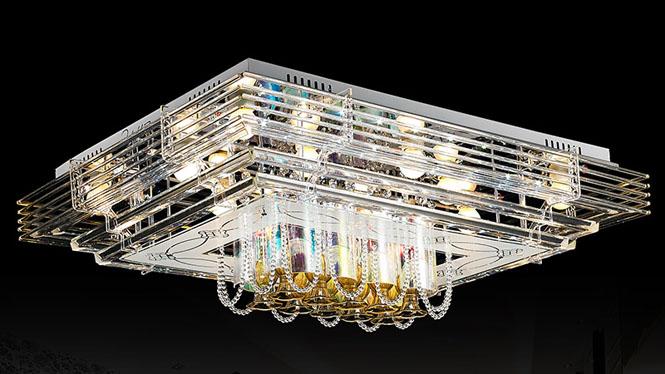 客厅灯现代简约创意LED吸顶灯长方形大气水晶灯卧室灯餐厅灯具饰 70112