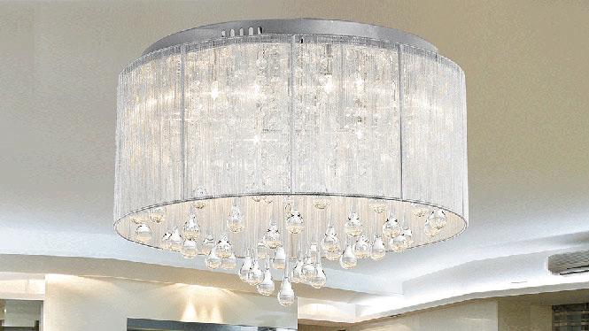 现代简约客厅灯水晶灯卧室灯吸顶灯具饰大气温馨餐厅书房 98192