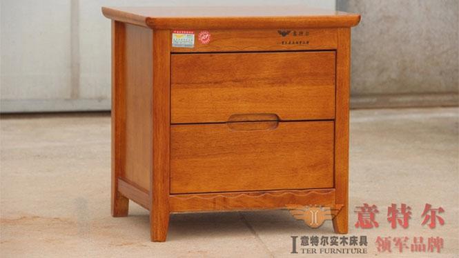橡木白色田园宜家小柜子简约时尚简易实木床头柜储物柜特价 923