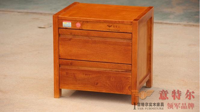橡木田园宜家中式家具实木简约时尚储物小柜子床头柜橱特价 925