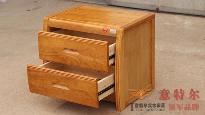 中式橡木宜家田园家具现代简约时尚小柜子实木床头柜橱特价 926