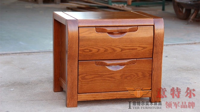 实木美国红橡家具床头柜简约田园时尚宜家木柜储物柜特价 930
