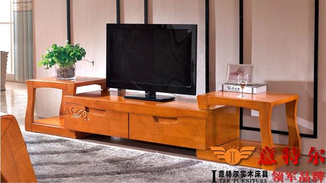 进口橡木现代中式电视柜实木地柜客厅茶水柜装饰储物柜特价 602#