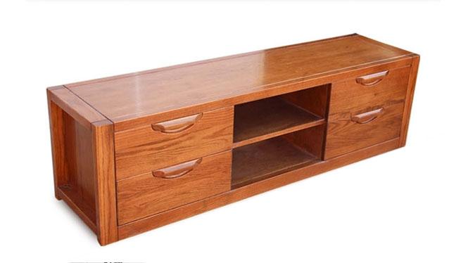 美国红橡木全实木电视柜现代简约地柜客厅试听影视机柜特价 DSG02