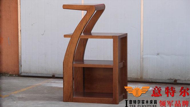 美国红橡全实木酒柜现代简约双门酒水柜陈列柜装饰柜特价 YGG