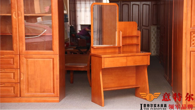 903#进口橡木家具全实木宜家现代简约时尚梳妆台带妆凳组合特价