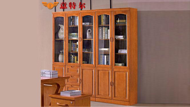 新品橡木实木简易大气两门书柜书房办公二门 三门书橱特价 3021#