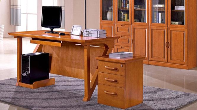 进口泰国橡胶木实木简约大气写字台书房办公用大书桌特价 6021#