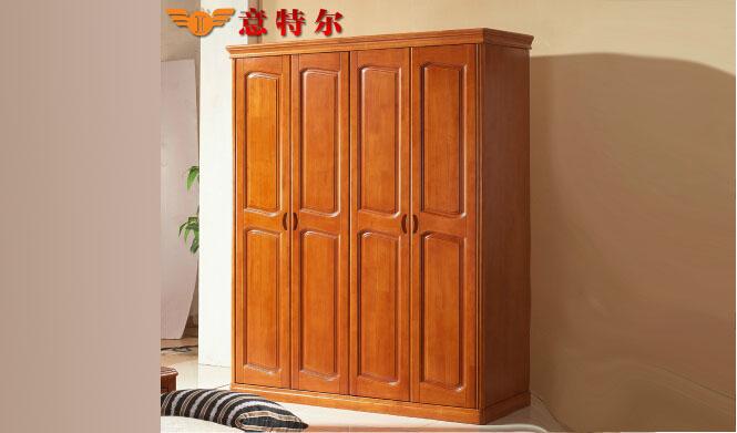 现代中式橡木衣柜 实木简易宜家衣柜 厂家直销衣柜组合特价 8011#