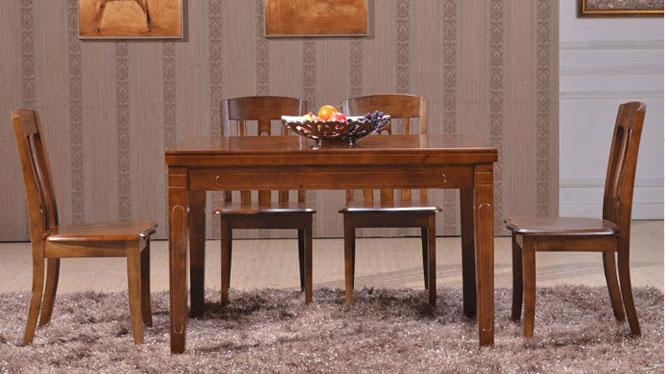 家用实木餐桌椅组合 桌子 餐厅桌椅实木家具可定制121# 120*80*76